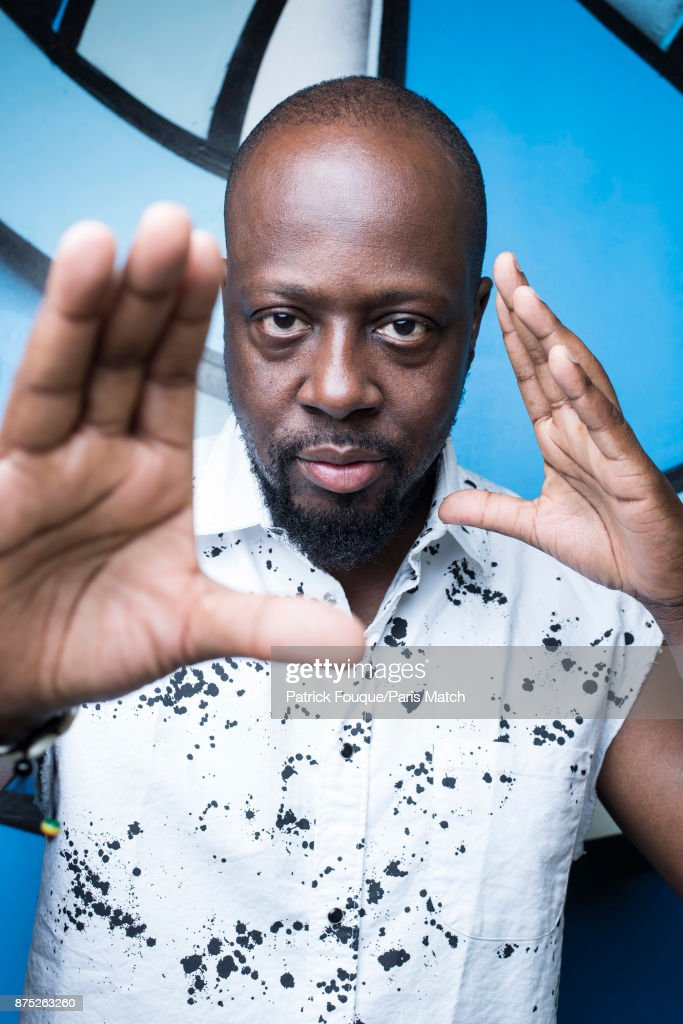Rapper, musician and actor Wyclef Jean is photographed for Paris Match on June 13, 2017 in Paris, France.