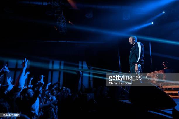 Rapper Nas aka Nasir Bin Olu Dara Jones performs live on stage during a concert at Huxleys Neue Welt on July 5 2017 in Berlin Germany