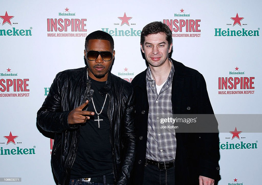 Rapper <a gi-track='captionPersonalityLinkClicked' href=/galleries/search?phrase=Nas&family=editorial&specificpeople=204627 ng-click='$event.stopPropagation()'>Nas</a> and Filip Wouters, Heineken vice president of marketing attend Heineken Inspire Encore Event featuring <a gi-track='captionPersonalityLinkClicked' href=/galleries/search?phrase=Nas&family=editorial&specificpeople=204627 ng-click='$event.stopPropagation()'>Nas</a>, Cee Lo Green, Diplo, Pete Rock, J. Cole and Roxy Cottontail at Basketball City - Pier 36 - South Street on November 13, 2010 in New York City.