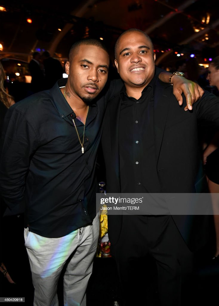 Rapper <a gi-track='captionPersonalityLinkClicked' href=/galleries/search?phrase=Nas&family=editorial&specificpeople=204627 ng-click='$event.stopPropagation()'>Nas</a> and producer <a gi-track='captionPersonalityLinkClicked' href=/galleries/search?phrase=Irv+Gotti&family=editorial&specificpeople=537749 ng-click='$event.stopPropagation()'>Irv Gotti</a> attend Maxim's Hot 100 Women of 2014 celebration and sneak peek of the future of Maxim at Pacific Design Center on June 10, 2014 in West Hollywood, California.