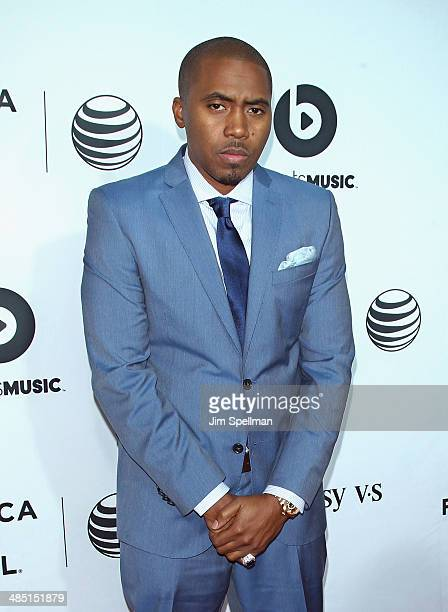 Rapper Nas attends the 2014 Tribeca Film Festival Opening Night Premiere of 'Time Is Illmatic' at The Beacon Theatre on April 16 2014 in New York City