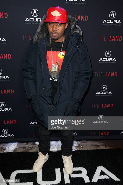 Rapper Nas attends 'The Land' party at The Acura Studio at Sundance Film Festival 2016 on January 25 2016 in Park City Utah