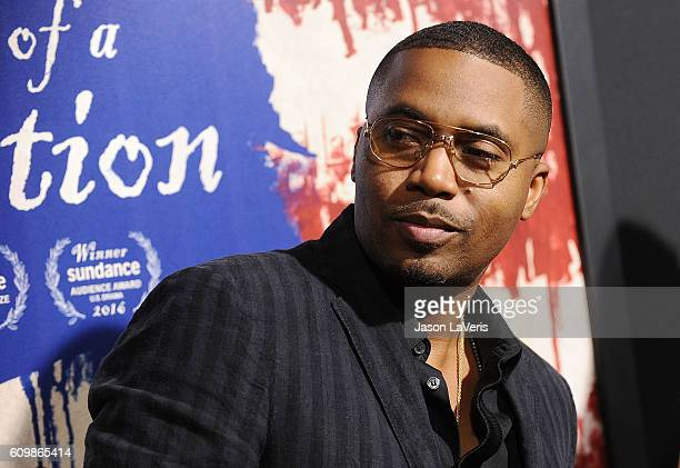 Rapper Nas attends the premiere of 'The Birth of a Nation' at ArcLight Cinemas Cinerama Dome on September 21 2016 in Hollywood California