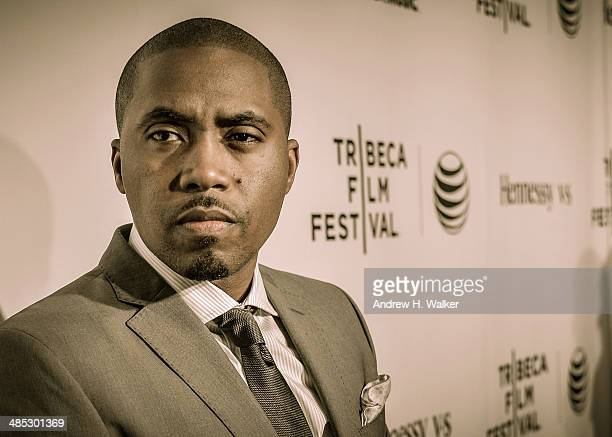 Rapper Nas attends the 'Time Is Illmatic' Opening Night Premiere during the 2014 Tribeca Film Festival at The Beacon Theatre on April 16 2014 in New...