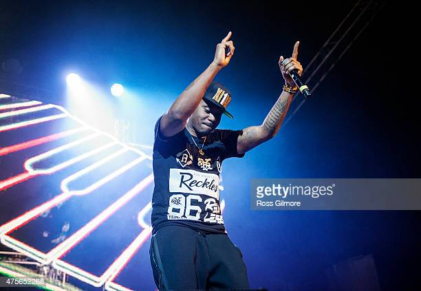 Rapper Nas performs at O2 Academy Glasgow on June 2 2015 in Glasgow United Kingdom