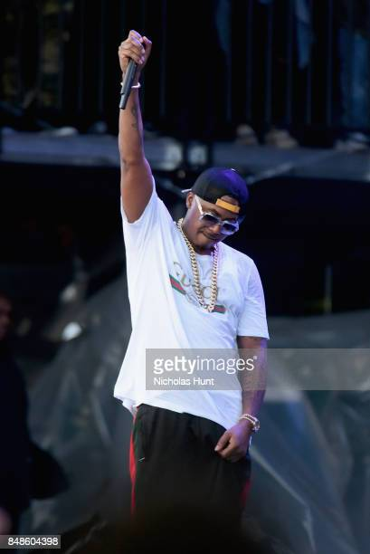 Rapper Nas performs onstage during the Meadows Music and Arts Festival Day 3 at Citi Field on September 17 2017 in New York City