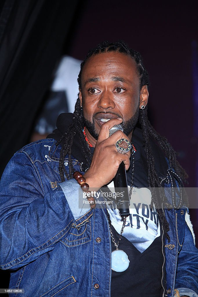 Rapper Neco 'Supernatural' Price attends the 2012 Rock the Bells Festival press conference and fan appreciation party at Santos Party House on June 13, 2012 in New York City.
