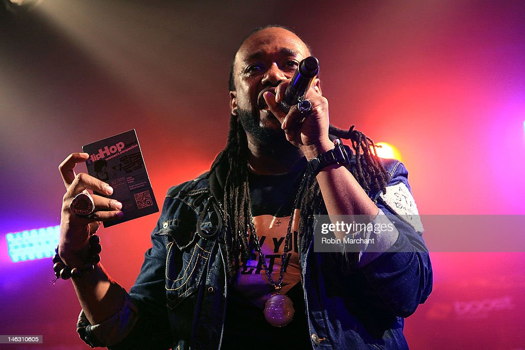 Rapper Neco 'Supernatural' Price performs at the 2012 Rock the Bells Festival press conference and fan appreciation party at Santos Party House on June 13, 2012 in New York City.