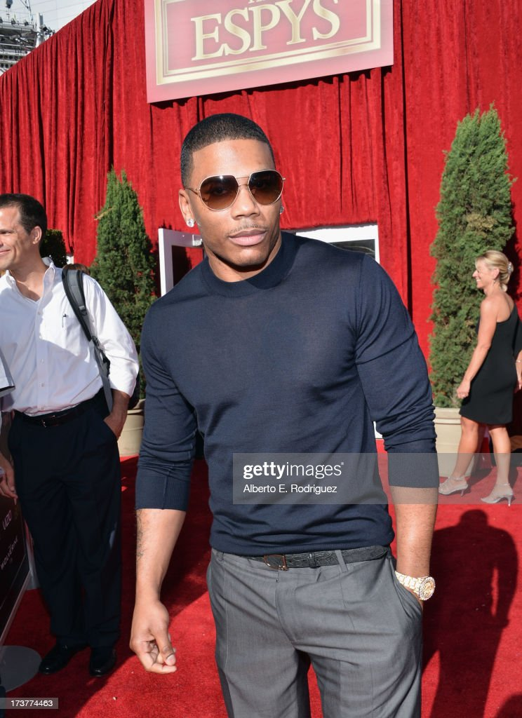 Rapper <a gi-track='captionPersonalityLinkClicked' href=/galleries/search?phrase=Nelly+-+Rapper&family=editorial&specificpeople=11499081 ng-click='$event.stopPropagation()'>Nelly</a> attends The 2013 ESPY Awards at Nokia Theatre L.A. Live on July 17, 2013 in Los Angeles, California.