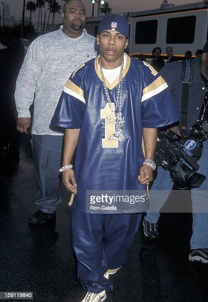 Rapper Nelly attends the 28th Annual American Music Awards on January 8 2001 at the Shrine Auditorium in Los Angeles California