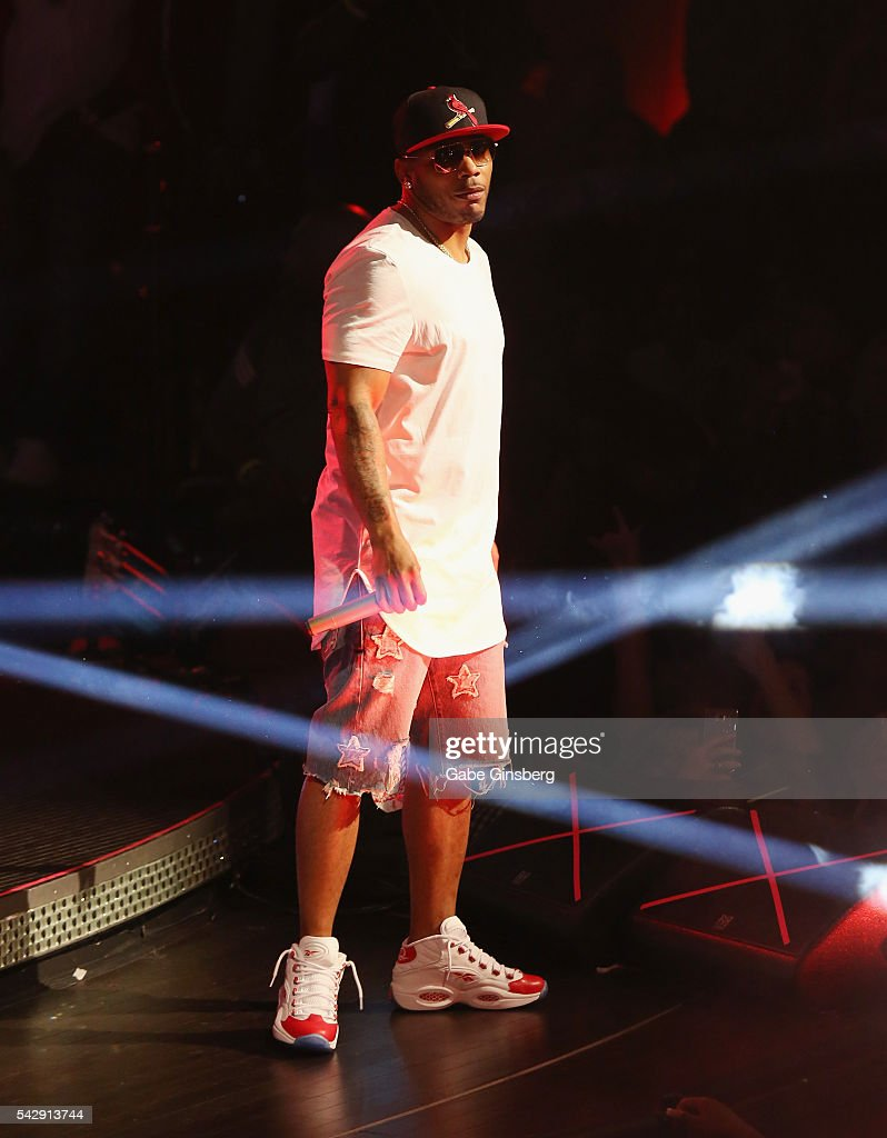 Rapper <a gi-track='captionPersonalityLinkClicked' href=/galleries/search?phrase=Nelly+-+Rapper&family=editorial&specificpeople=11499081 ng-click='$event.stopPropagation()'>Nelly</a> performs at Drai's Beach Club - Nightclub at The Cromwell Las Vegas on June 25, 2016 in Las Vegas, Nevada.