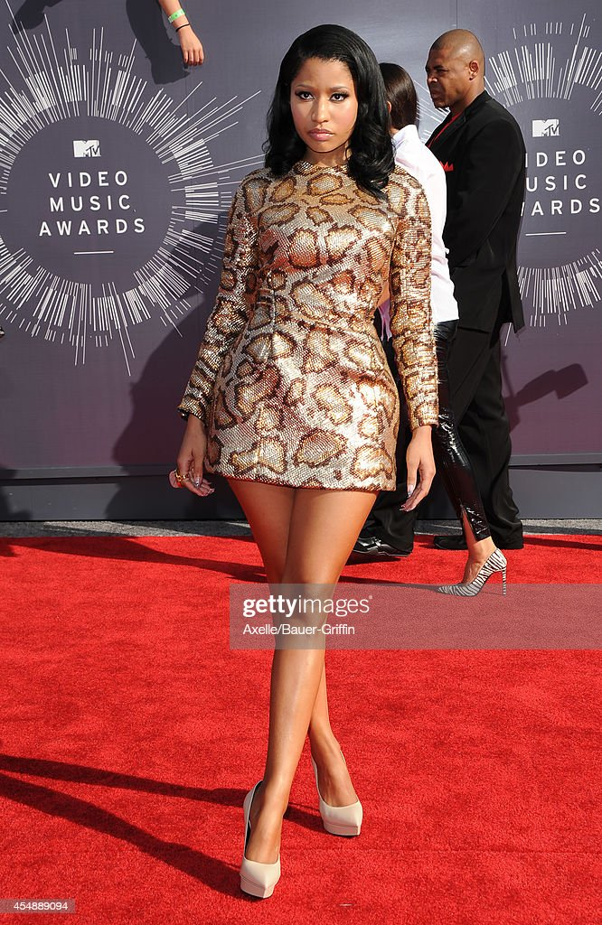 Rapper Nicki Minaj arrives at the 2014 MTV Video Music Awards at The Forum on August 24 2014 in Inglewood California