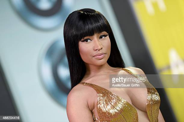 Rapper Nicki Minaj arrives at the 2015 MTV Video Music Awards at Microsoft Theater on August 30 2015 in Los Angeles California