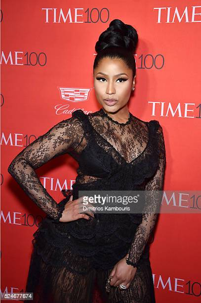 Rapper Nicki Minaj attends 2016 Time 100 Gala Time's Most Influential People In The World red carpet at Jazz At Lincoln Center at the Times Warner...