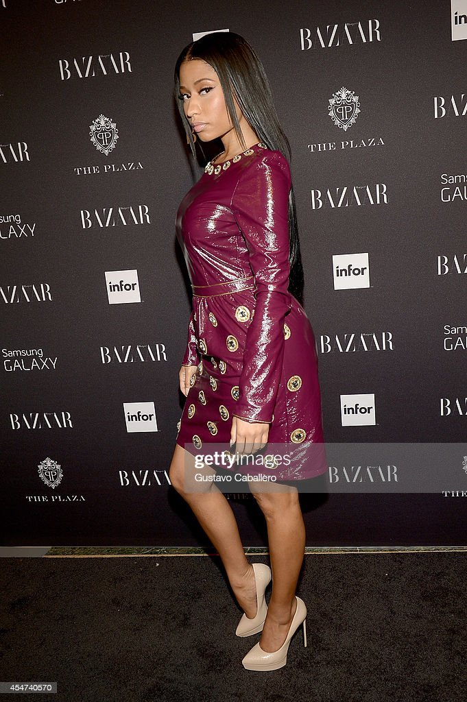 Rapper Nicki Minaj attends Samsung GALAXY At Harper's BAZAAR Celebrates Icons By Carine Roitfeld at The Plaza Hotel on September 5 2014 in New York...