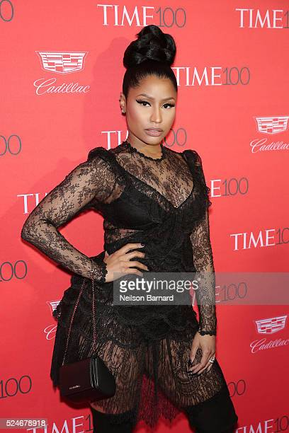 Rapper Nicki Minaj attends the 2016 Time 100 Gala at Frederick P Rose Hall Jazz at Lincoln Center on April 26 2016 in New York City
