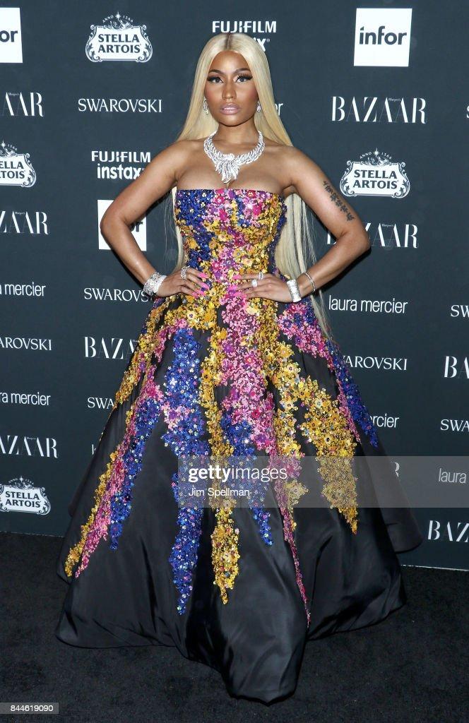 Rapper Nicki Minaj attends the 2017 Harper's Bazaar Icons at The Plaza Hotel on September 8, 2017 in New York City.