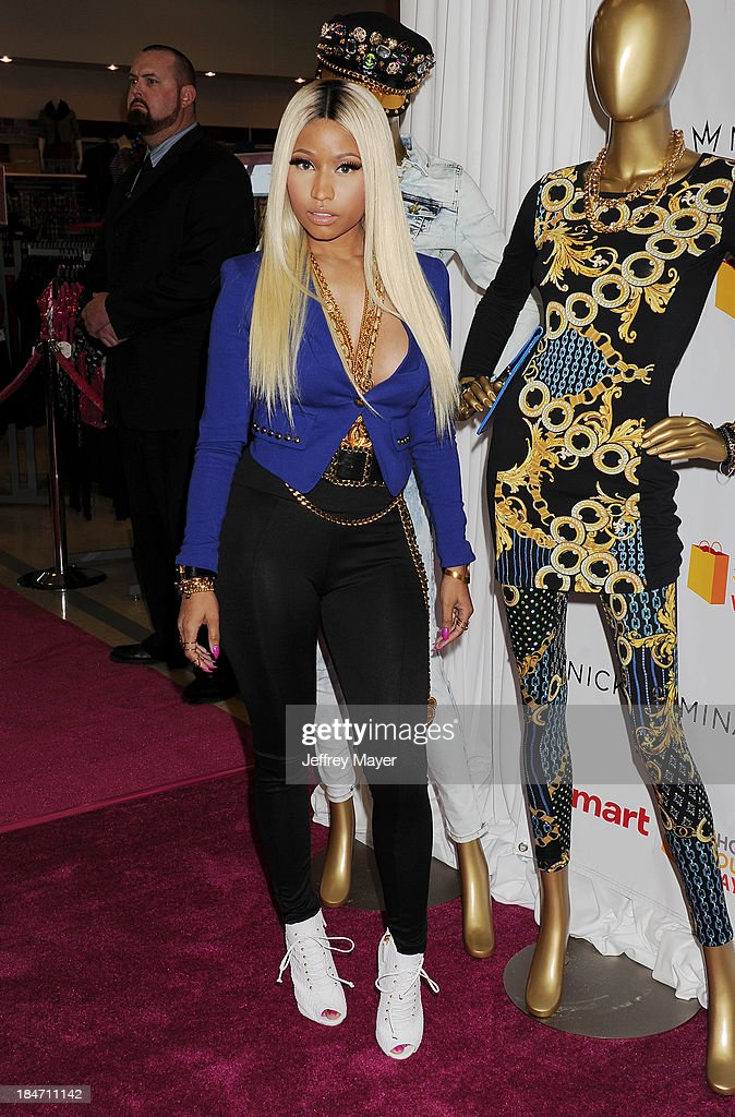 Rapper Nicki Minaj attends the Kmart and Shop Your Way launch of the Nicki Minaj Collection at Kmart on October 15, 2013 in Los Angeles, California.