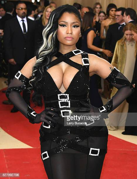 'NEW YORK NY MAY 02 Rapper Nicki Minaj attends the 'Manus x Machina Fashion In An Age Of Technology' Costume Institute Gala at Metropolitan Museum of...