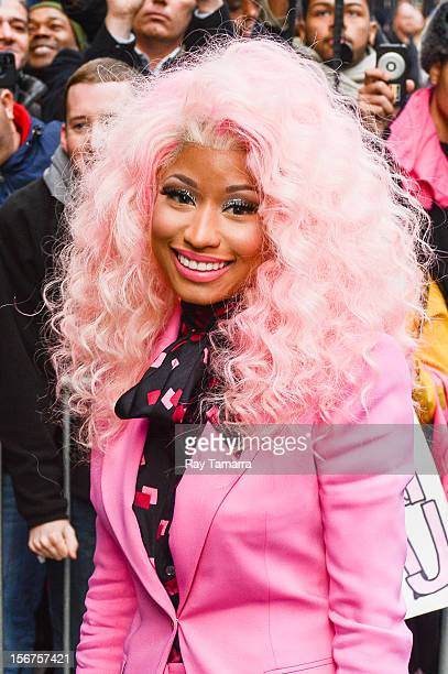 Rapper Nicki Minaj enters the 'Good Morning America' taping at the ABC Times Square Studios on November 20 2012 in New York City
