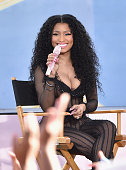 Rapper Nicki Minaj performs on ABC's 'Good Morning America' at Rumsey Playfield Central Park on July 24 2015 in New York City