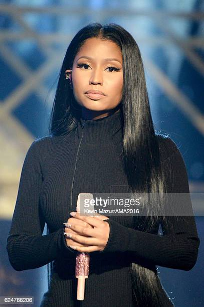 Rapper Nicki Minaj performs onstage at the 2016 American Music Awards at Microsoft Theater on November 20 2016 in Los Angeles California