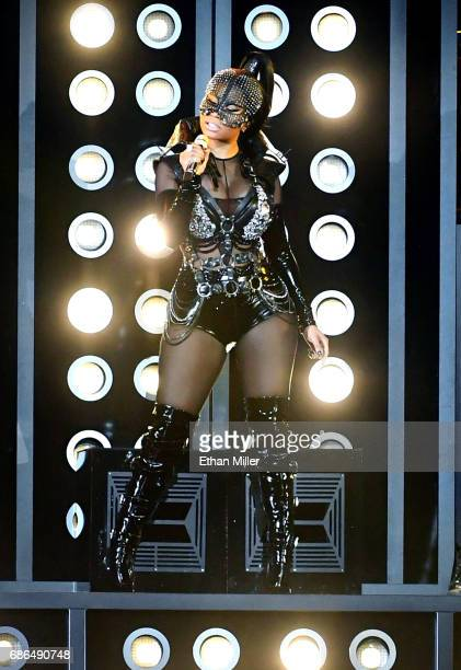 Rapper Nicki Minaj performs onstage during the 2017 Billboard Music Awards at TMobile Arena on May 21 2017 in Las Vegas Nevada