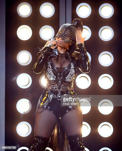 Rapper Nicki Minaj performs onstage during the 2017 Billboard Music Awards at TMobile Arena on May 21 2017 in Las Vegas Nevada