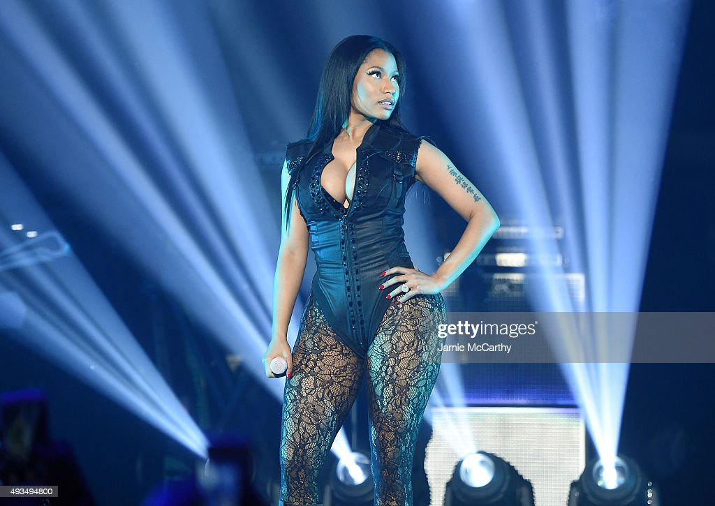 Rapper Nicki Minaj performs onstage during TIDAL X 1020 Amplified by HTC at Barclays Center of Brooklyn on October 20 2015 in New York City