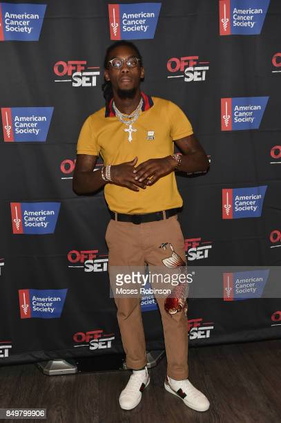 Rapper Offset attend the launch of the $500K fundraising campaign for the American Cancer Society on September 19 2017 at Main Event in Atlanta...