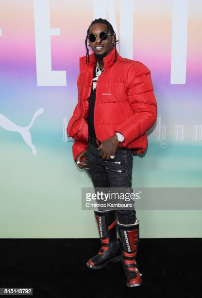 Rapper Offset of Migos attends the FENTY PUMA by Rihanna Spring/Summer 2018 Collection at Park Avenue Armory on September 10 2017 in New York City