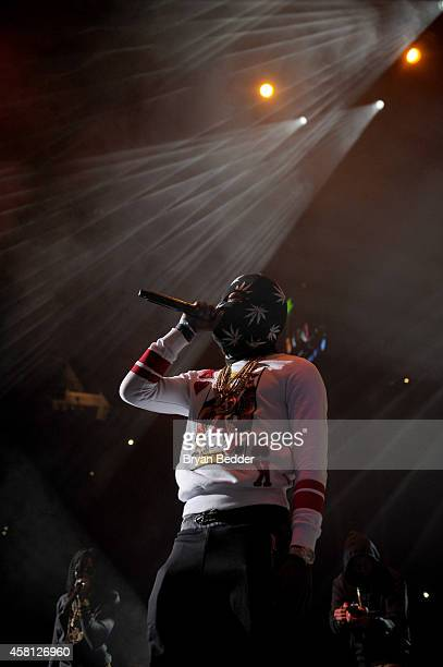 Rapper Offset of Migos performs on stage at Power 1051's Powerhouse 2014 at Barclays Center of Brooklyn on October 30 2014 in New York City