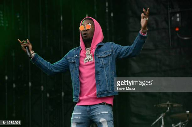 Rapper Offset of Migos performs onstage during the 2017 Budweiser Made in America festival Day 1 at Benjamin Franklin Parkway on September 2 2017 in...