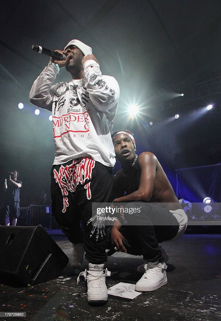Rapper performs with A$AP Rocky onstage at The Other Tent during day 4 of the 2013 Bonnaroo Music & Arts Festival on June 16, 2013 in Manchester, Tennessee.