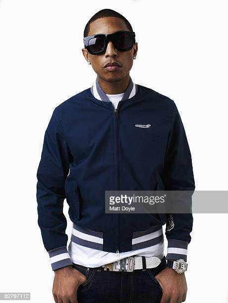 Rapper Pharrell poses at a portrait session in New York City