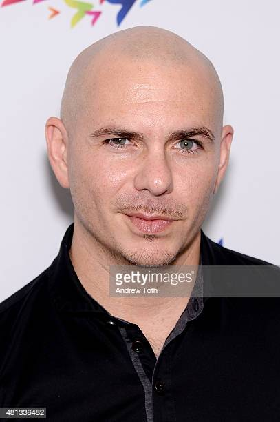 Rapper Pitbull attends Plenti's 'Better Together Mantra' concert at Hammerstein Ballroom on July 19 2015 in New York City