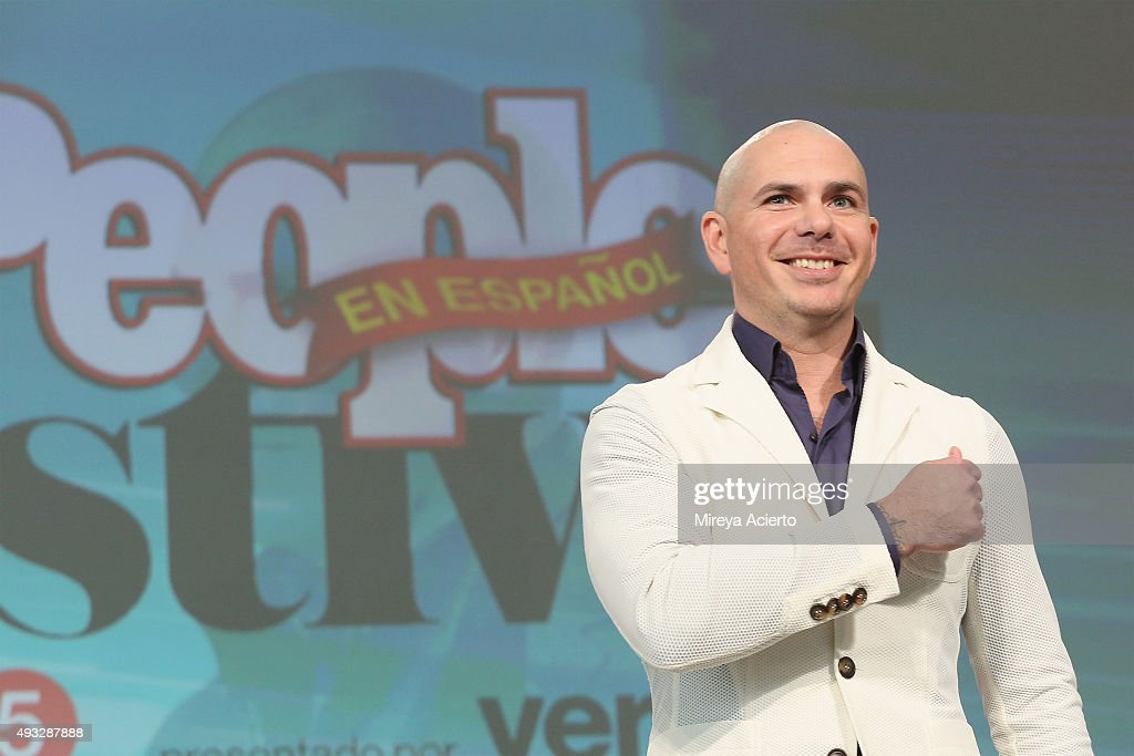 Rapper <a gi-track='captionPersonalityLinkClicked' href=/galleries/search?phrase=Pitbull+-+Rapper&family=editorial&specificpeople=206389 ng-click='$event.stopPropagation()'>Pitbull</a> speaks during the 4th Annual People en Espanol Festival at Jacob Javitz Center on October 18, 2015 in New York City.