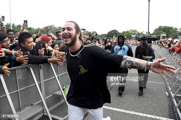 Rapper Post Malone performs during The Meadows Music Arts Festival Day 1 on October 1 2016 in Queens New York