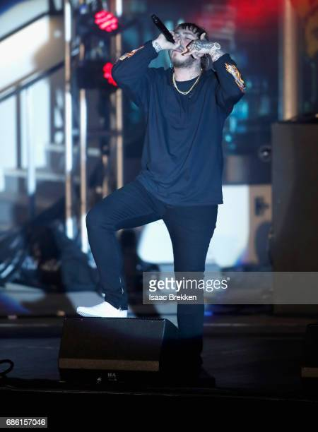 Rapper Post Malone performs on the second night of CBS RADIO's 'SPF' concert at The Boulevard Pool at The Cosmopolitan of Las Vegas on May 20 2017 in...