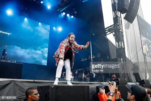 Rapper Post Malone performs onstage during The Meadows Music Arts Festival Day 1 on October 1 2016 in Queens New York