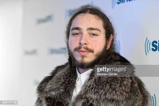Rapper Post Malone visits SiriusXM Studio on November 30 2016 in New York City