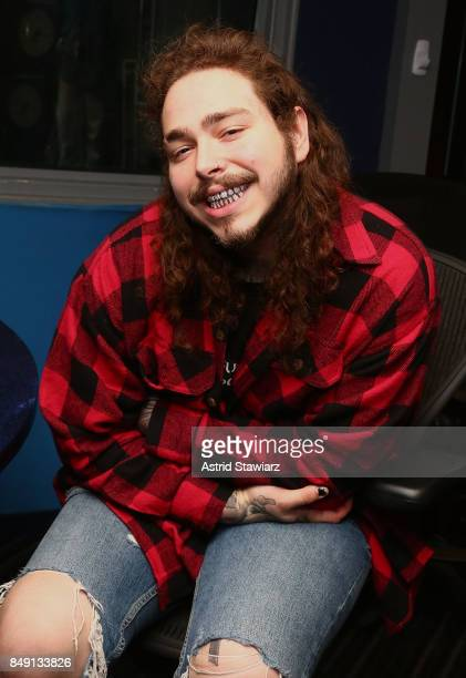 Rapper Post Malone visits the SiriusXM Studios on September 18 2017 in New York City