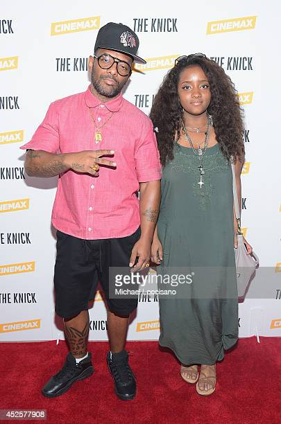 Rapper Prodigy of Mobb Deep and daughter Tasia Johnson attend the Cinemax screening panel and reception for 'The Knick' on July 23 2014 in New York...