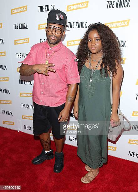 Rapper Prodigy of Mobb Deep and daughter Tasia Johnson attend 'The Knick' special screening at The New York Academy Of Medicine on July 23 2014 in...