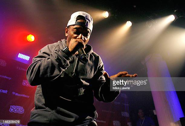 Rapper Prodigy performs during the 2012 Rock the Bells Festival press conference and Fan Appreciation Party on at Santos Party House on June 13 2012...