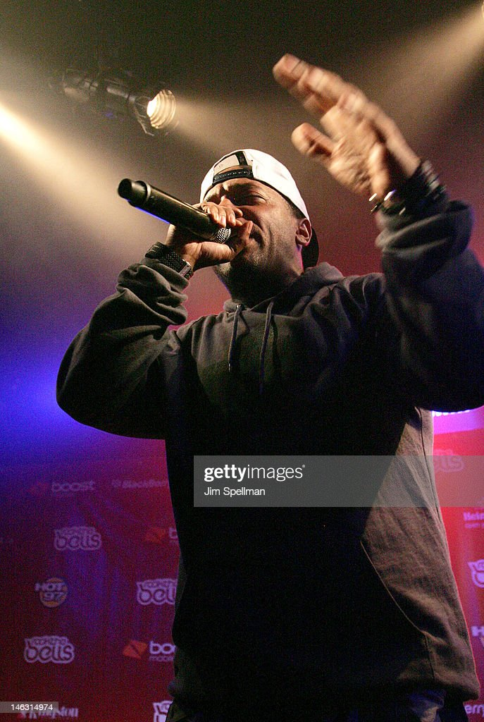 Rapper Prodigy performs during the 2012 Rock The Bells Festival Press Conference And Fan Appreciation Party on June 13, 2012 in New York City.