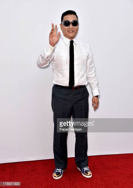 Rapper Psy attends the premiere of Summit Entertainment's 'RED 2' at Westwood Village on July 11 2013 in Los Angeles California