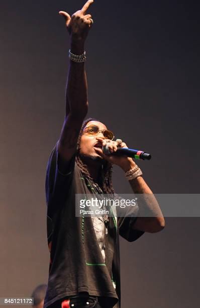 Rapper Quavo of Migo performs onstage at 2017 ONE Music Fest at Lakewood Amphitheatre on September 9 2017 in Atlanta Georgia