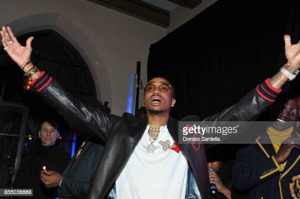 Rapper Quavo of Migos attends GQ and Chance The Rapper Celebrate the Grammys in Partnership with YouTube at Chateau Marmont on February 12 2017 in...