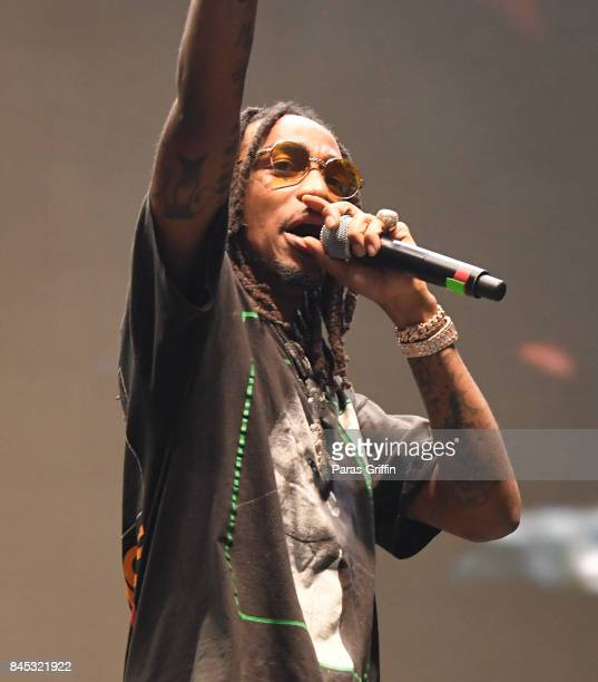 Rapper Quavo of Migos performs onstage at 2017 ONE Music Fest at Lakewood Amphitheatre on September 9 2017 in Atlanta Georgia